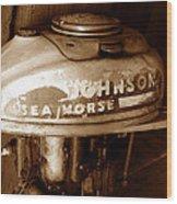 Vintage Sea Horse Wood Print