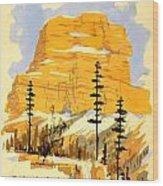 Vintage See America Travel Poster Wood Print