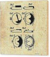 Vintage Self-winding Watch Movement Patent Wood Print