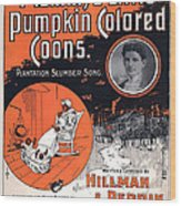 Vintage Sheet Music Cover Circa 1896 Wood Print by M Witmmark and Sons