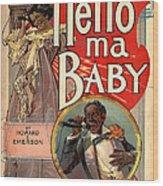 Vintage Sheet Music Cover Circa 1900 Wood Print