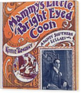 Vintage Sheet Music Cover Wood Print