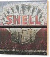 Vintage Shell Oil Rail Tanker Car Wood Print