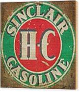 Vintage Sinclair Gasoline Sign Wood Print