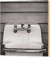 Vintage Sink Wood Print by Olivier Le Queinec