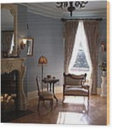Vintage Sitting Room Wood Print