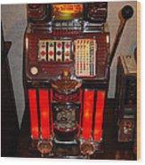 Vintage Slot Machine 25 Cents Wood Print