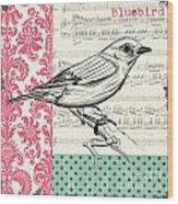 Vintage Songbird 1 Wood Print