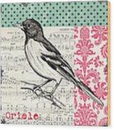 Vintage Songbird 2 Wood Print by Debbie DeWitt