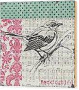 Vintage Songbird 4 Wood Print