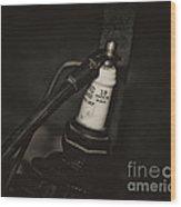 Vintage Spark Plug   4 Wood Print by Wilma  Birdwell