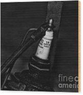 Vintage Spark Plug  6  Wood Print