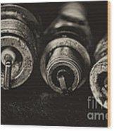 Vintage Spark Plugs  Wood Print