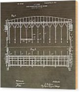 Vintage Starting Gate Patent Wood Print