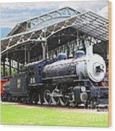 Vintage Steam Locomotive 5d29281 V2 Wood Print