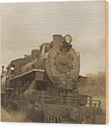 Vintage Steam Locomotive Wood Print