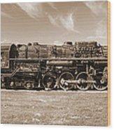 Vintage Steam Locomotive Wood Print