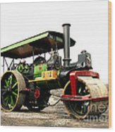 Vintage Steam Roller Wood Print