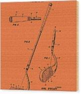 Vintage Stecher Gold Club Patent - 1960 Wood Print