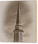 Vintage Steeple Wood Print