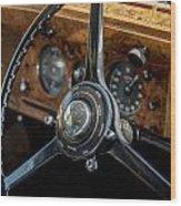 Vintage Steering  Wood Print