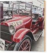 Vintage Studebaker Fire Engine Wood Print