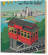Pittsburgh Poster - Incline Wood Print