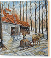 Vintage Sugar Shack By Prankearts Wood Print