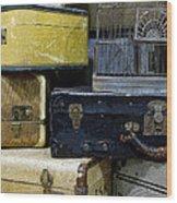 Vintage Suitcase Wood Print