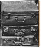 Vintage Suitcases Wood Print
