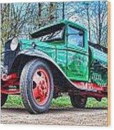 Vintage Tanker 1 Wood Print