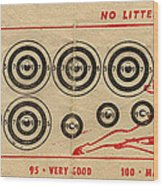 Vintage Target Card Wood Print