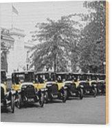 Vintage Taxis 3 Wood Print