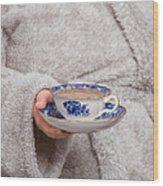 Vintage Teacup Wood Print