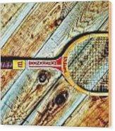 Vintage Tennis Wood Print by Benjamin Yeager