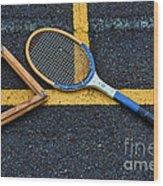 Vintage Tennis Wood Print by Paul Ward