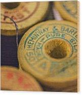 Vintage Thread Wood Print