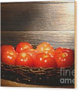 Vintage Tomatoes Wood Print