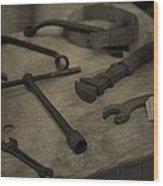 Vintage Tools Wood Print