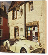 Vintage Touch. Culross Sketches. Scotland Wood Print