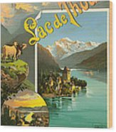 Vintage Tourism Poster 1890 Wood Print by Mountain Dreams