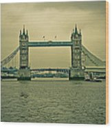 Vintage Tower Bridge Wood Print
