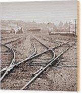 Vintage Tracks Wood Print
