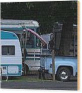 Vintage Trailer Truck Wood Print