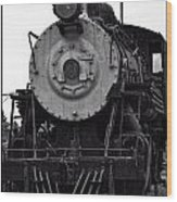 Vintage Train 90 Wood Print