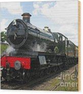 Vintage Train Black Steam Engine Wood Print