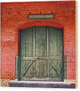 Vintage Train Depot Receiving Door - Augusta Wood Print by Mark E Tisdale
