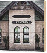 Vintage Train Station Wood Print