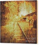 Vintage  Railway Portland Pa Usa Wood Print