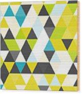 Vintage Triangle Pattern.geometric Wood Print